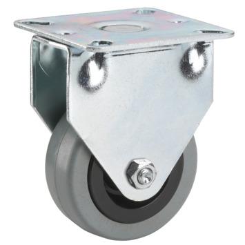 Bokwiel Rubber met plaatbevestiging Ø 50 mm max. 35 kg