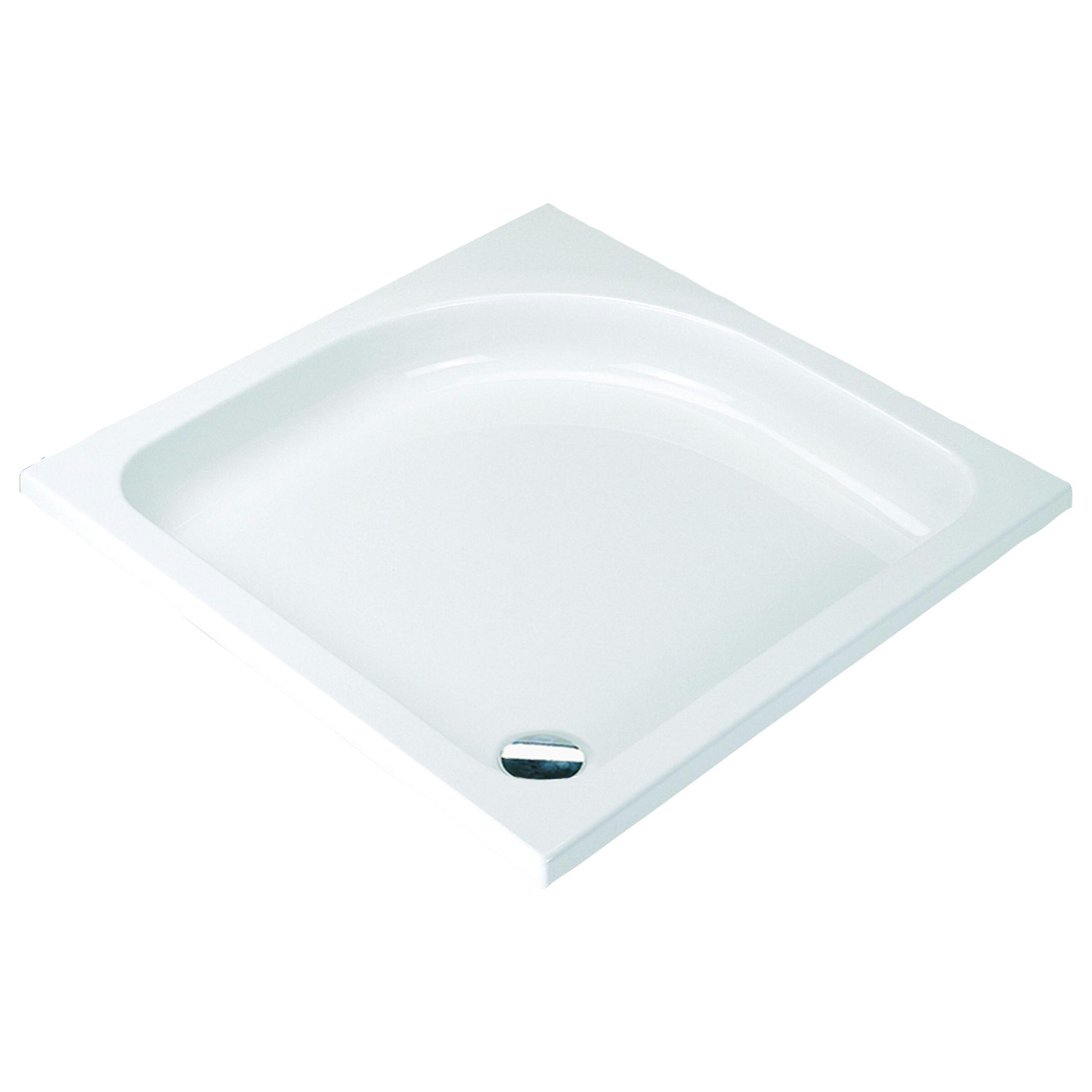 Sealskin Comfort douchebak vierkant 80x80 inbouw wit