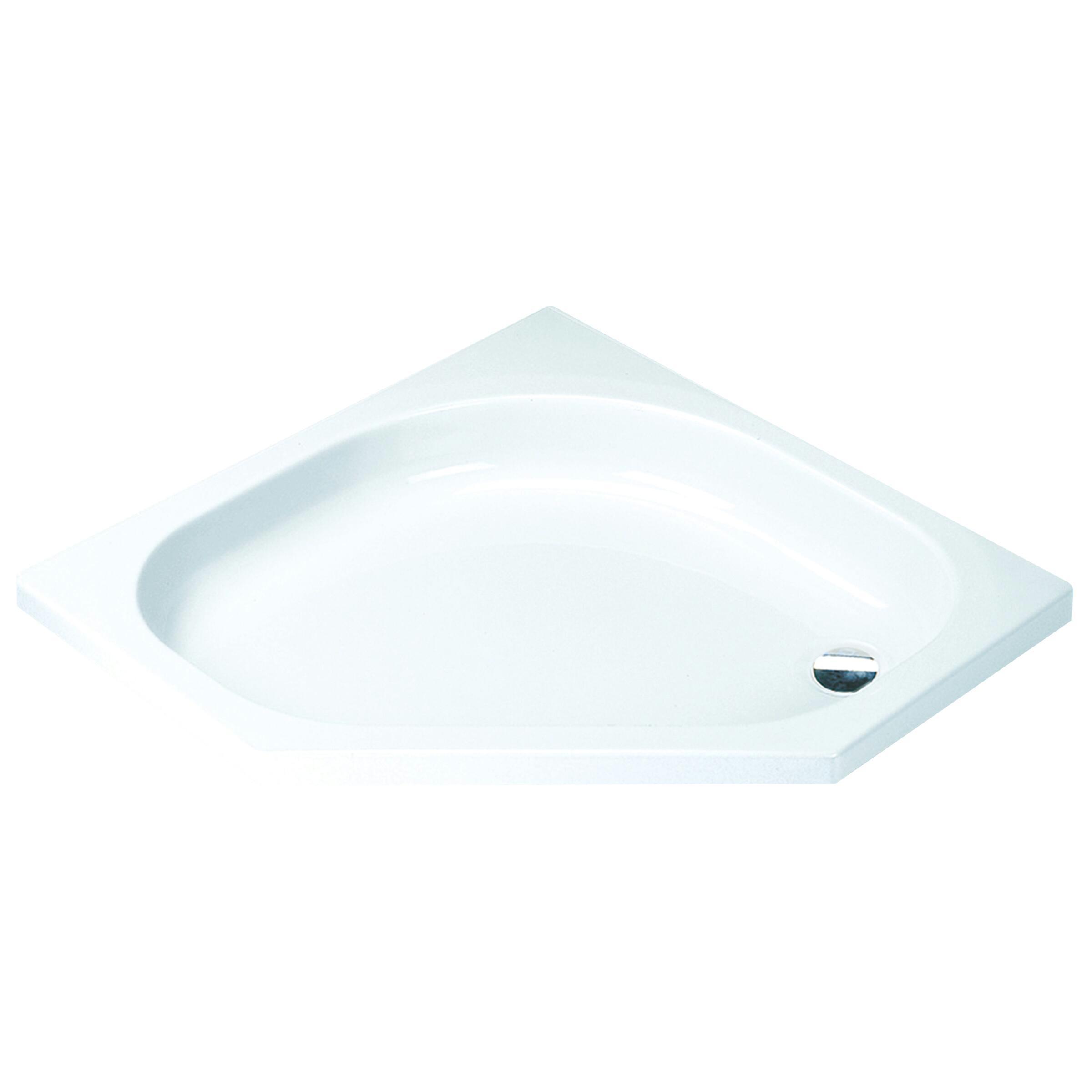 Sealskin Comfort douchebak vijfhoek 100x100 inbouw wit