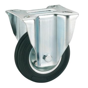 Bokwiel Rubber met plaatbevestiging Ø 100 mm max. 70 kg