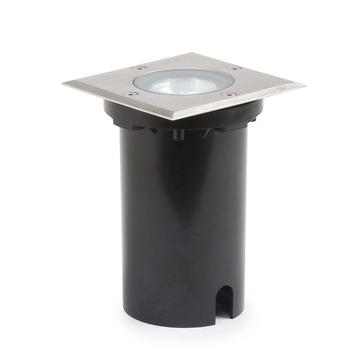Konstsmide buitenlamp Square ø11 cm RVS