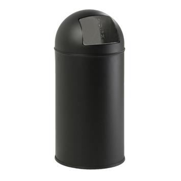Afvalemmer American Pushcan 40 Liter Mat Zwart