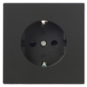 KARWEI Zenith wandcontactdoos mat zwart