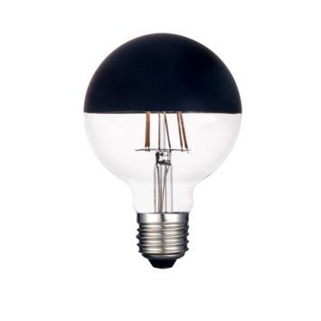 Handson LED Globe E27 8W=24W 245LM Mat zwart kopspiegel