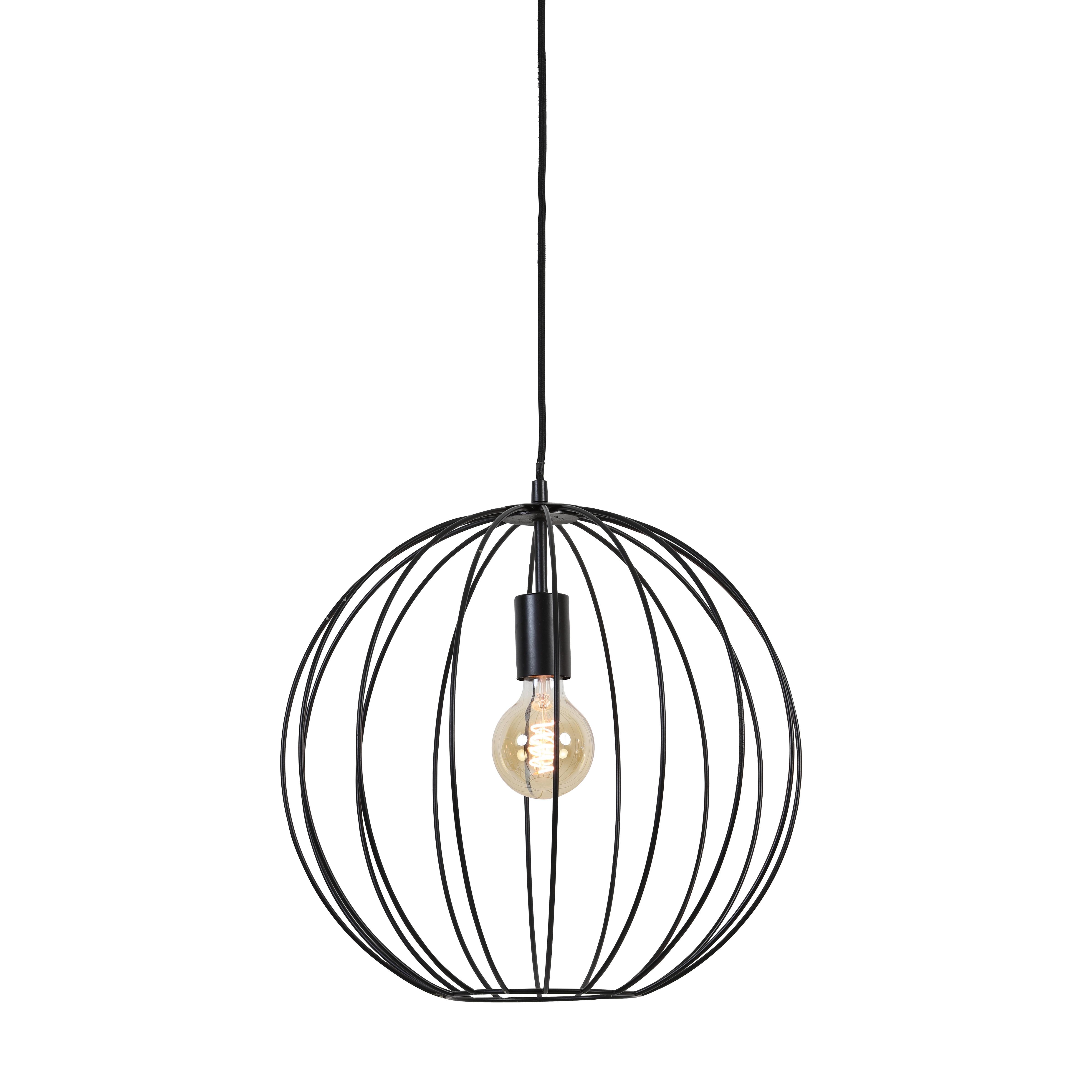 Hanglamp Evita Ø40X40 CM mat zwart