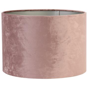 Lampenkap cilinder 20-20-15 cm VELOURS roze