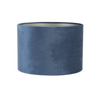 Lampenkap cilinder 20-20-15 cm VELOURS blauw