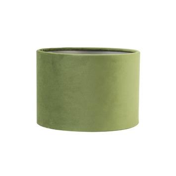 Lampenkap cilinder 20-20-15 cm VELOURS licht groen