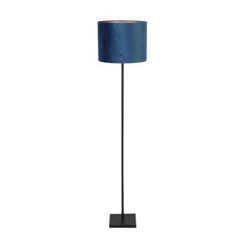 Vloerlamp Oliver blauw velours