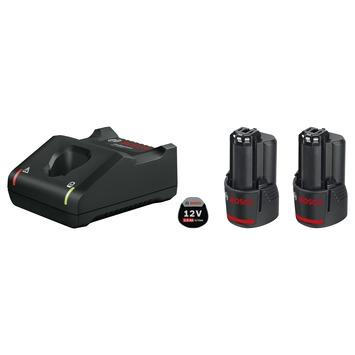 Bosch Professional starterset 2 x GBA 12V 2.0Ah accu + oplader