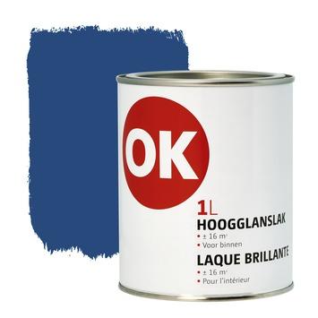 OK binnenlak hoogglans 1 L donkerblauw