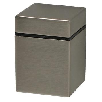 Duraline plankdrager clip cube mini geborsteld nikkel