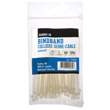 Handson Bindband Naturel 2.5 x 100 mm 100 Stuks