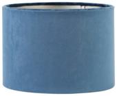 Lampenkap cilinder 30-30-21 cm VELOURS blauw