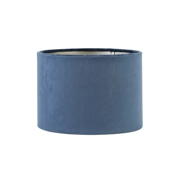 Lampenkap cilinder 25-25-18 cm VELOURS blauw