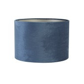 Lampenkap cilinder 40-40-25 cm VELOURS blauw