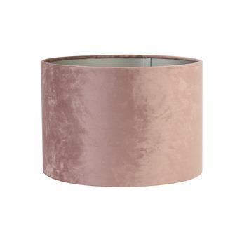 Lampenkap cilinder 25-25-18 cm VELOURS roze