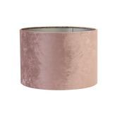Lampenkap cilinder 40-40-25 cm VELOURS roze