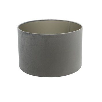 Lampenkap cilinder 25-25-18 cm VELOURS grijs