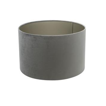 Lampenkap cilinder 20-20-15 cm VELOURS grijs