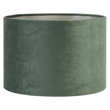 Lampenkap cilinder 35-35-23 cm VELOURS donker groen