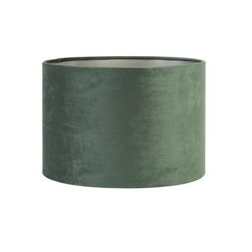 Lampenkap cilinder 25-25-18 cm VELOURS donker groen
