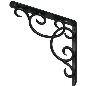 Duraline plankdrager Curly mat zwart 19x19 cm
