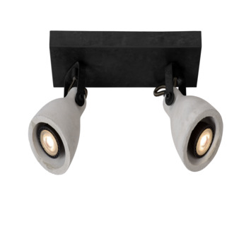 Lucide spot Concri zwart 2-lichts