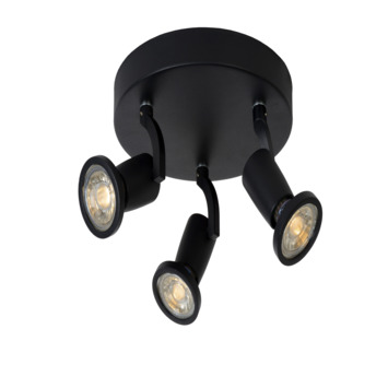 Lucide spot Jaster zwart 3-lichts