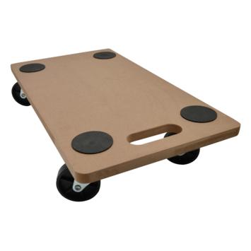 Handson MDF meubeltransporter harde wielen 56x30 cm max. 200 kg