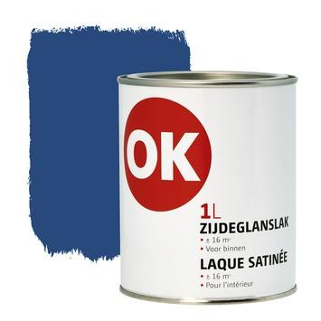 OK binnenlak zijdeglans 1 L donkerblauw