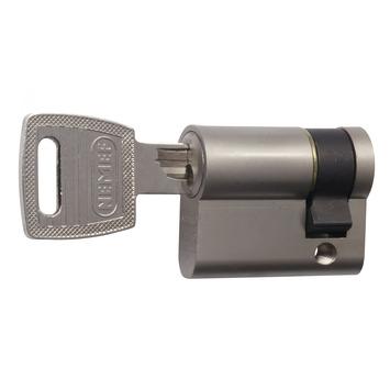 NEMEF halve veiligheidscilinder 30/10 mm SKG 2-sterren