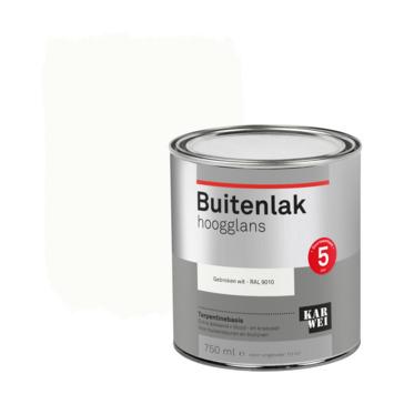 Karwei buitenlak hoogglans 750 ml gebroken wit