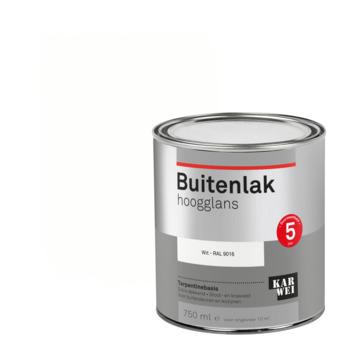 Karwei buitenlak hoogglans 750 ml wit