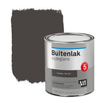 Karwei buitenlak zijdeglans 750 ml zwartgrijs