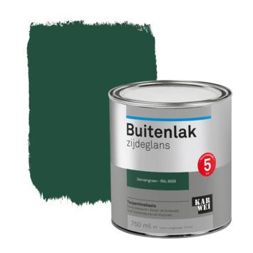 Karwei buitenlak zijdeglans 750 ml dennen groen
