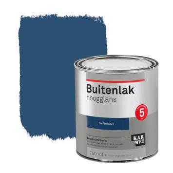 Karwei buitenlak hoogglans 750 ml geldersblauw