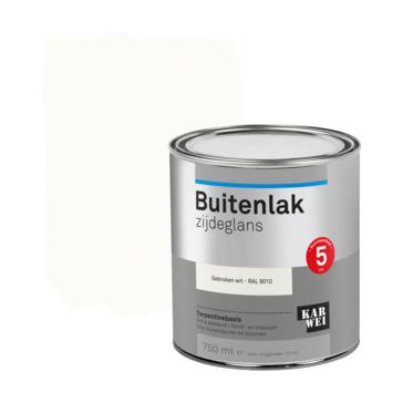 Karwei buitenlak zijdeglans 750 ml gebroken wit