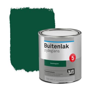 Karwei buitenlak zijdeglans 750 ml gracht groen