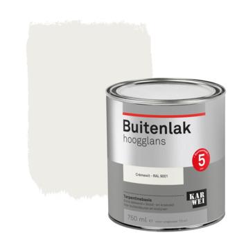 Karwei buitenlak hoogglans 750 ml crèmewit