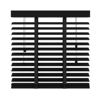 KARWEI horizontale houten jaloezie 50 mm mat zwart (947) 100 x 220 cm