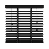 KARWEI horizontale houten jaloezie 50 mm mat zwart (947) 220 x 220 cm