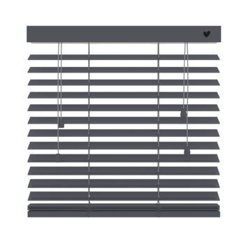 vtwonen horizontale houten jaloezie basalt (955) 60 x 180 cm - 50 mm