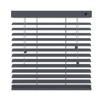 vtwonen horizontale houten jaloezie 50 mm basalt (955) 120 x 180 cm (bxh)