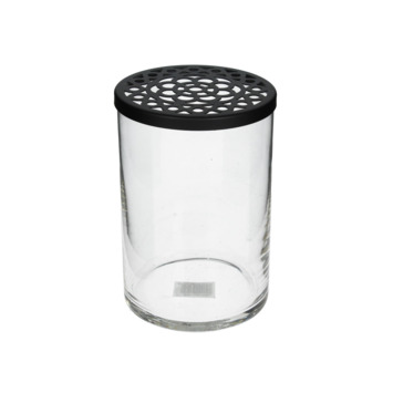 Glazen vaas zwart