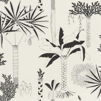 Claas vliesbehang palm wit/zwart (dessin 540031)