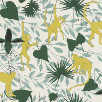Claas vliesbehang apen geel (dessin 540130)