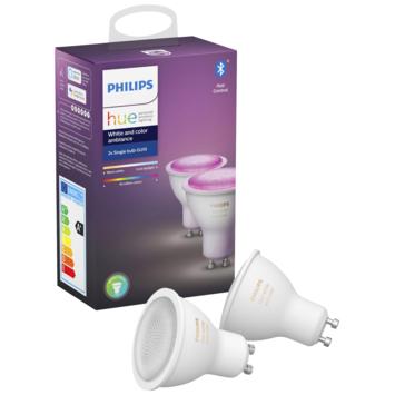 Philips Hue White en Color Ambiance GU10 2 stuks