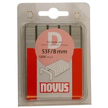 Novus nieten vlakdraad D53F 8 mm 1200 stuks
