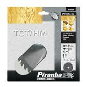 Piranha cirkelzaagblad X13025 standaard TCT/HM 184x16 mm 40 tanden